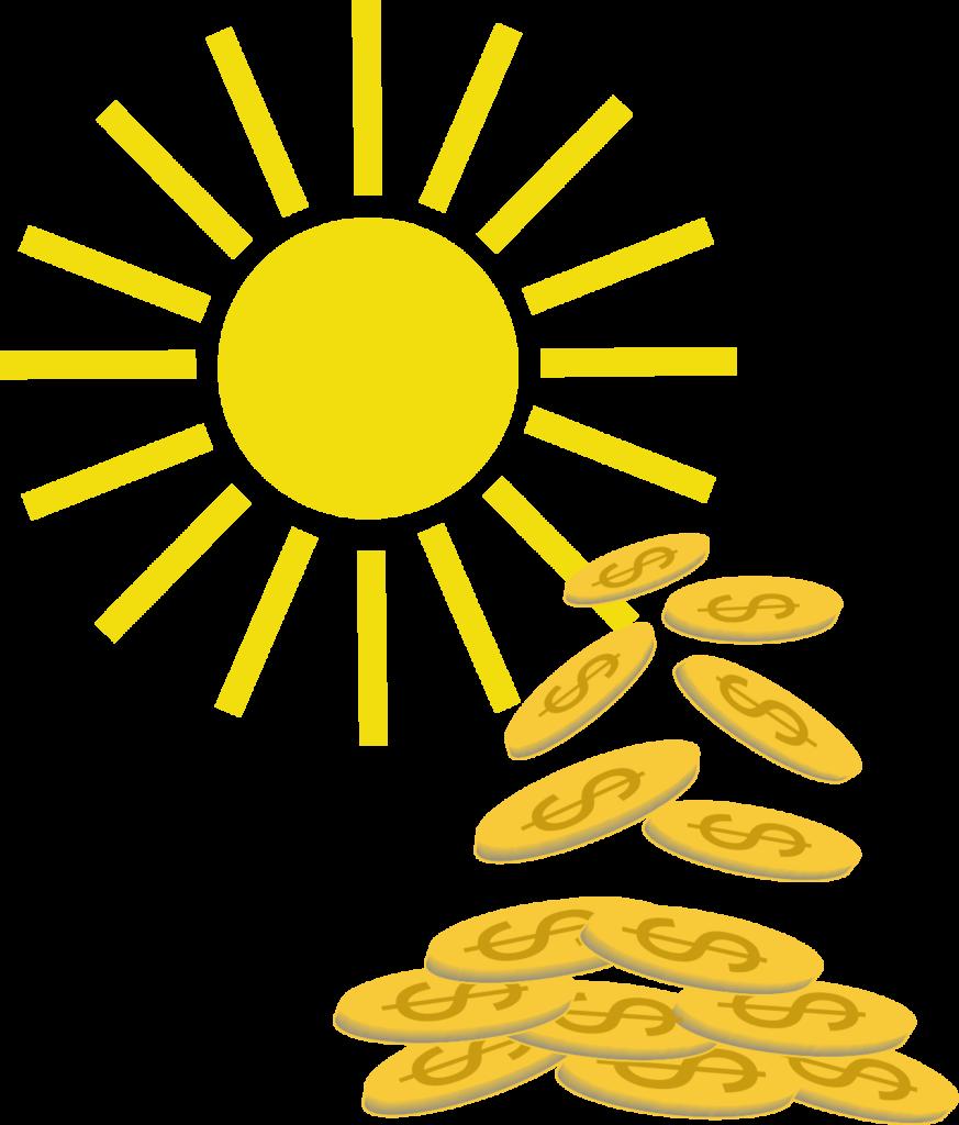 Pieniądze płynące ze Słońca